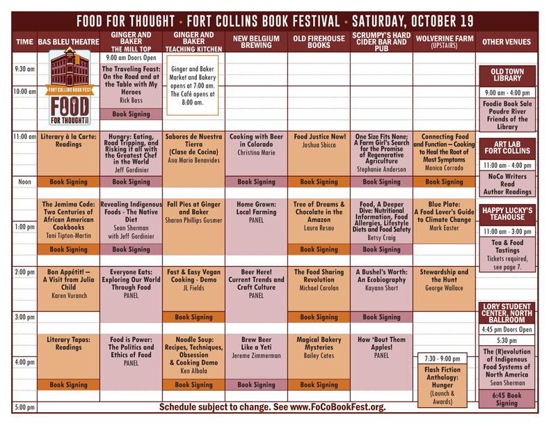 Preview the Complete Book Fest Program