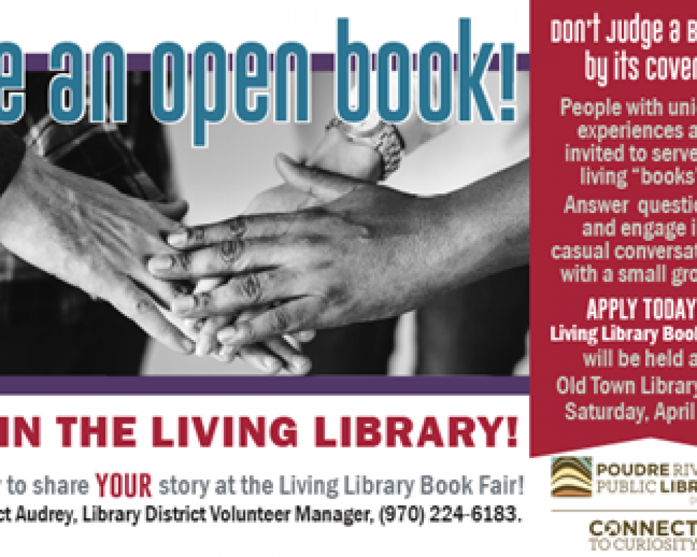 """Call for """"Human Books"""" for Living Library"""